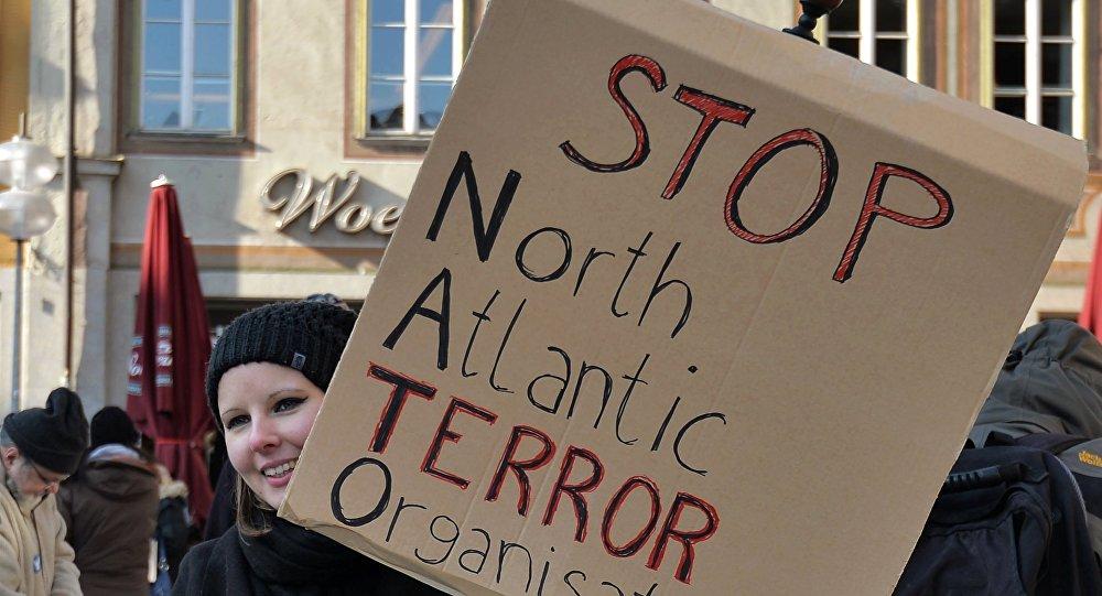 Anti Nato protesta akcija. Foto no arhīva.