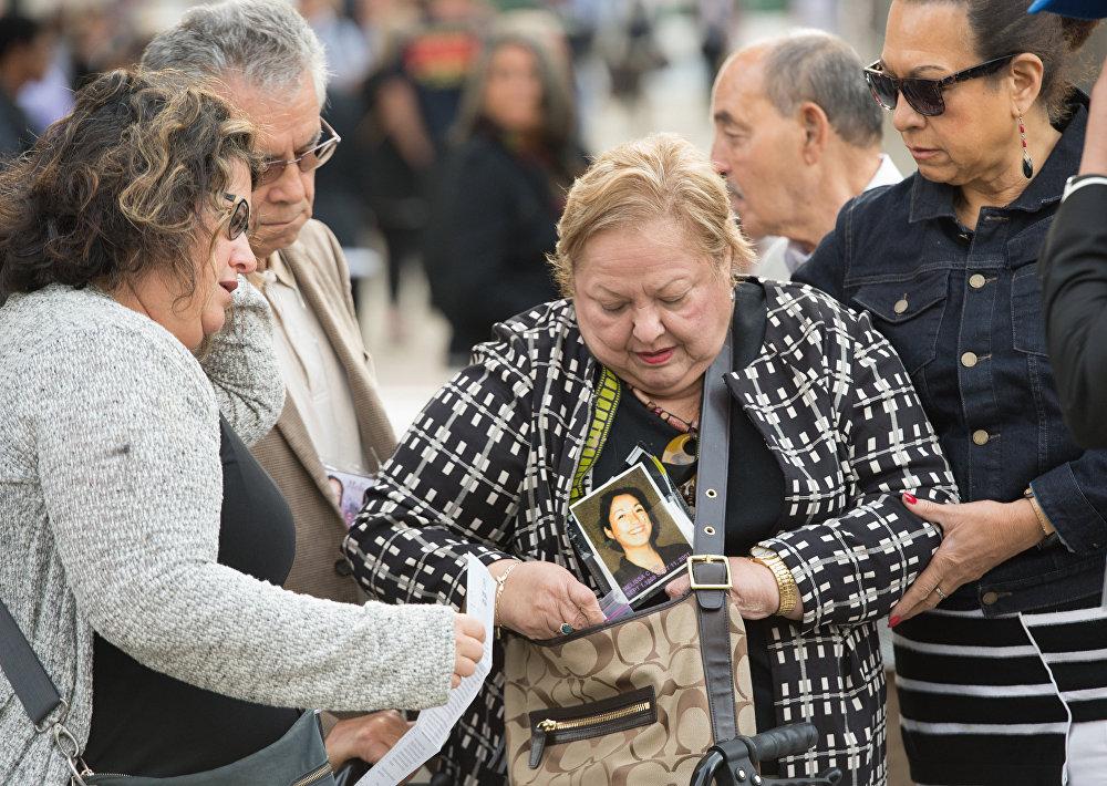 Члены семей погибших приехали, чтобы почтить память своих близких