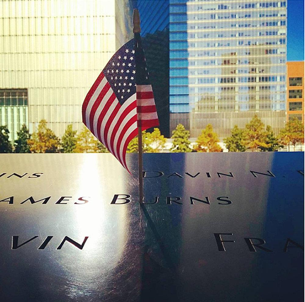 Мемориал в память жертв теракта 11 сентября 2001 года в Нью-Йорке