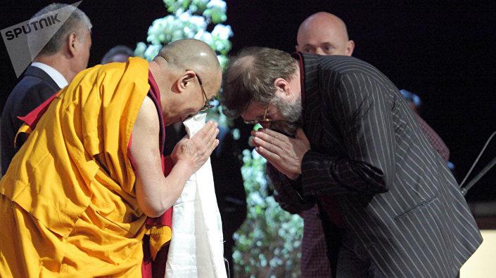 Далай-лама и Борис Гребенщиков, 2016 год