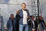 Мэр Риги Нил Ушаков на открытии спортивного квартала, архивное фото