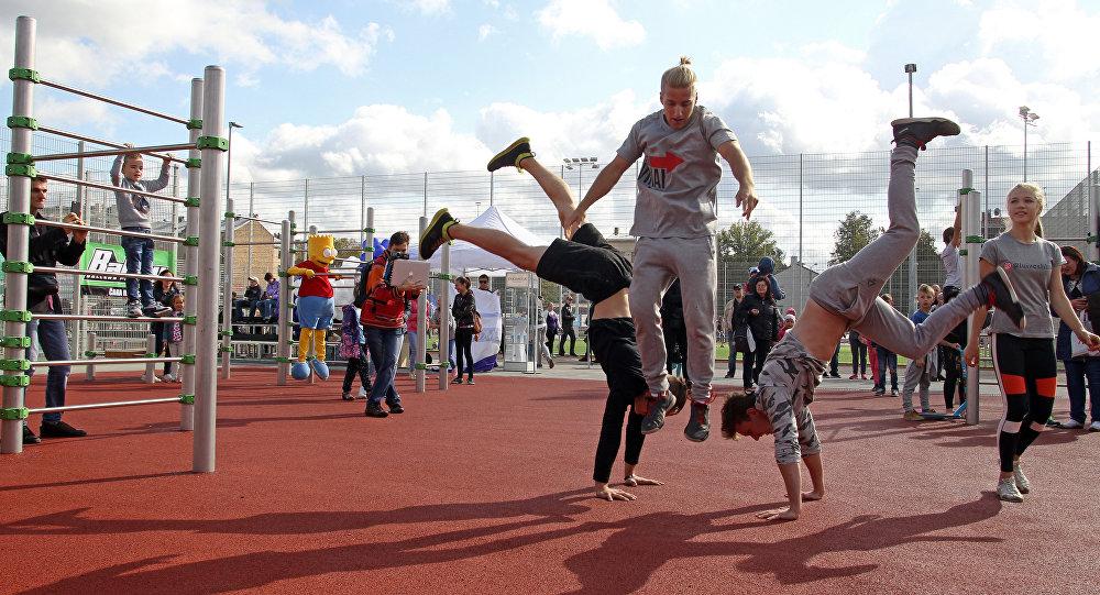 Выступления спортсменов на открытии  спортивного квартала