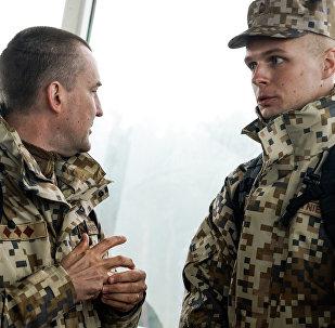 Наблюдатели от вооружённых сил Латвии на учениях Запад-2017