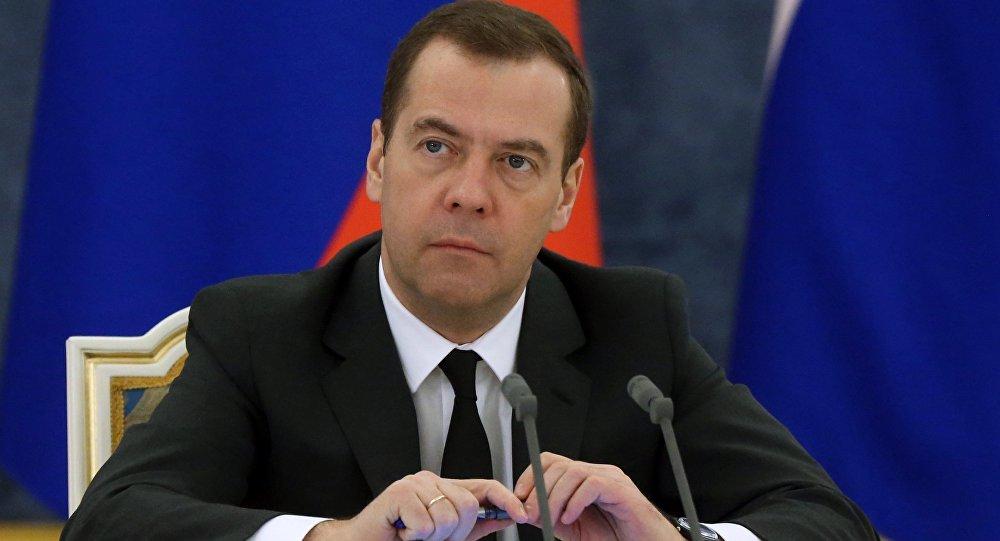 Krievijas premjerministrs Dmitrijs Medvedevs