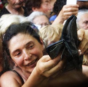 Женщина с пустым кошельком