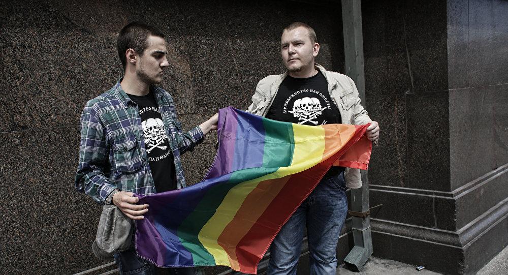 Флаг ЛГБТ. Архивное фото