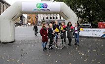 В Риге прошла акция На работу на велосипеде