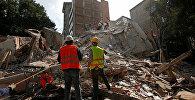 Zemestrices dēļ sabrukusi ēka Mehiko