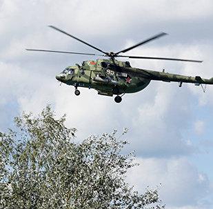 Вертолет Ми-8 ВВС Белоруссии на учениях Запад-2017