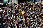 Протесты против ареста чиновников в Барселоне 20 сентября