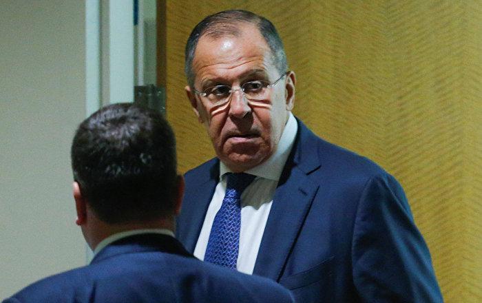 Министр иностранных дел России Сергей Лавров после участия в заседании 72-й Генеральной Ассамблеи ООН