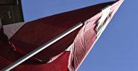 Флаг Латвии на здании Сейма