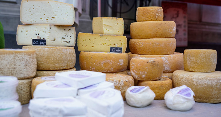 Латвийский козий сыр