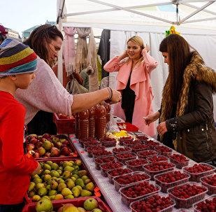 Латвийские ягоды и фрукты на Празднике урожая