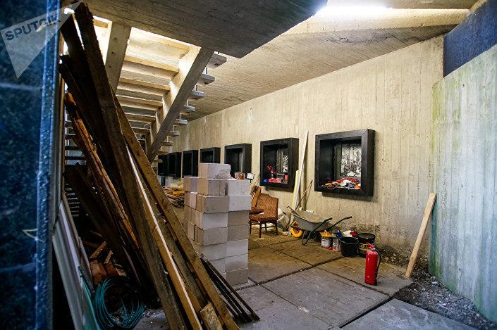 Ремонтные работы в Саласпилском мемориальном комплексе