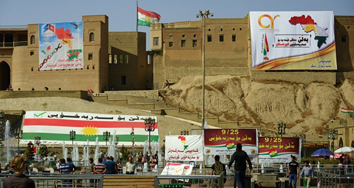 Aģitācija par Irākas Kurdistānas neatkarību. Foto no arhīva