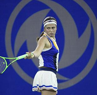 Елена Остапенко на турнире в Китае