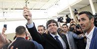 Глава правительства Каталонии Карлес Пучдемон на референдуме о независимости Каталонии, Испания