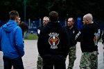 Члены радикальной националистической группировки Tēvijas sargi (Стражи Отечества)