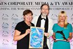 Председатель РБРТ Вита Ермоловича (справа), директор Cannes Corporate Media&TV Award Александр Кэммель и руководитель проектов Live Riga Иева Ласмане