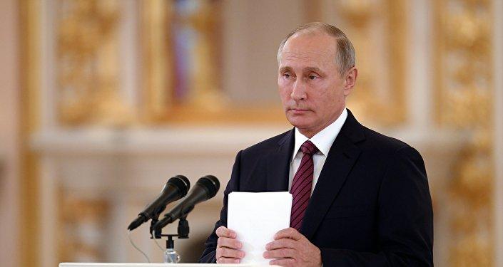 Президент РФ В. Путин принял верительные грамоты у 20 послов иностранных государств