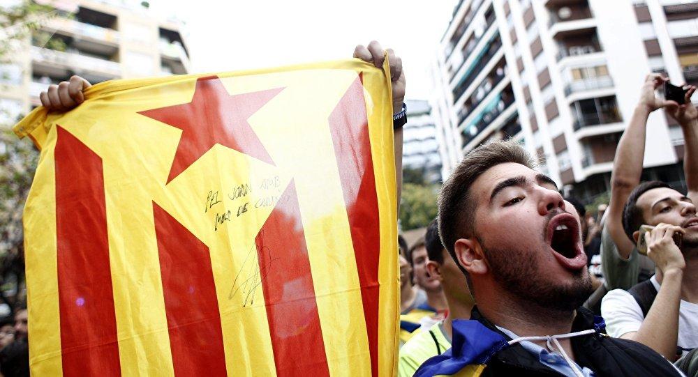 Protesta akcija Barselonā neatkarības atbalstam