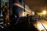 Столкновение поезда с автобусом на железнодорожном переезде в Петушинском районе Владимирской области