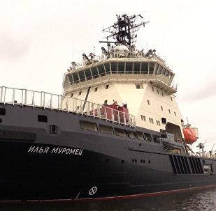 Sākti ledlauža Iļja Muromec valsts izmēģinājumi