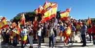 Mītiņš konstitūcijas atbalstam Madridē