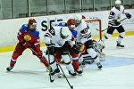 Товарищеская встреча юниорских сборных Латвии и России по хоккею в Риге