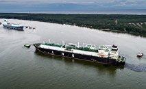 Газовоз везет первый СПГ груз из США в Литву