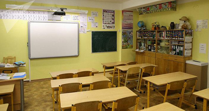 В школьном кабинете