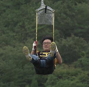 Dienvidkorejā atklāts ekstremāls trošu ceļš