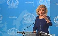 Krievijas Ārlietu ministrijas oficiālā pārstāve Marija Zaharova