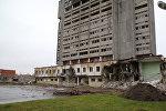 Снос здания завода Радиотехника в Риге