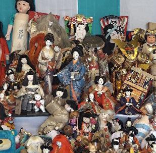 Церемония прощания с игрушками в храме Мэйдзи в Токио