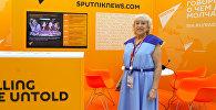Участница фестиваля молодежи 1957 года Клавдия Тихомирова посетила стенд Sputnik