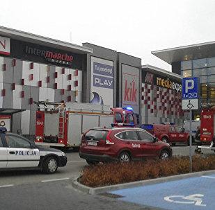 Slaktiņa vietā tirdzniecības centrā Polijā