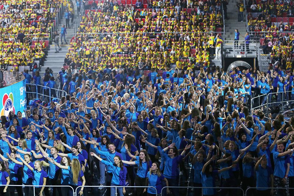Лучшие моменты сзакрытия XIX Всемирного фестиваля молодёжи истудентов