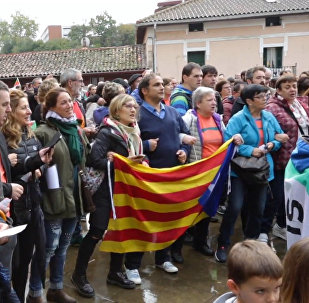 Basku valsts iedzīvotāji atbalsta kataloņus