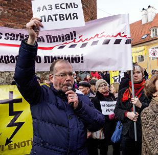 Eiroparlamenta deputāti Andrejs Mamikins un Tatjana Ždanoka