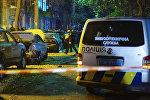 Следователи работают на месте взрыва автомобиля в центре Киева