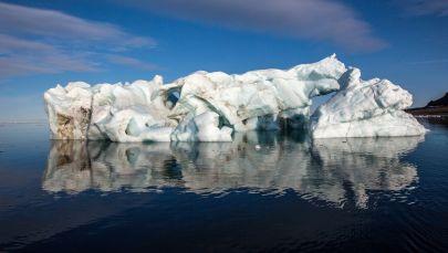 Aisbergs pie Franča Jozefa Zemes. Foto no arhīva