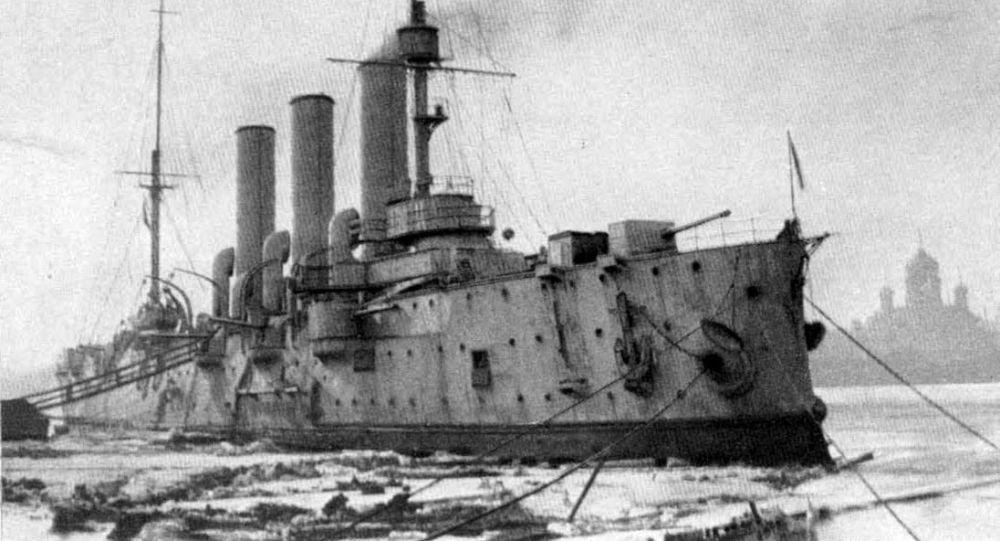 Крейсер Аврора в 1917 году