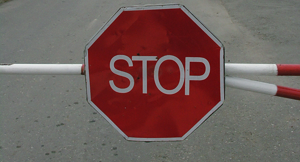 Знак СТОП. Архивное фото