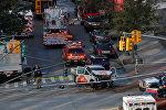 Полиция на месте теракта в Нью-Йорке