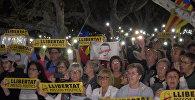 Тысячи человек в Барселоне вышли на акцию протеста против ареста каталонских политиков