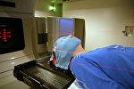 Сеанс лучевой терапии с использованием медицинского линейного ускорителя Varian medical systems