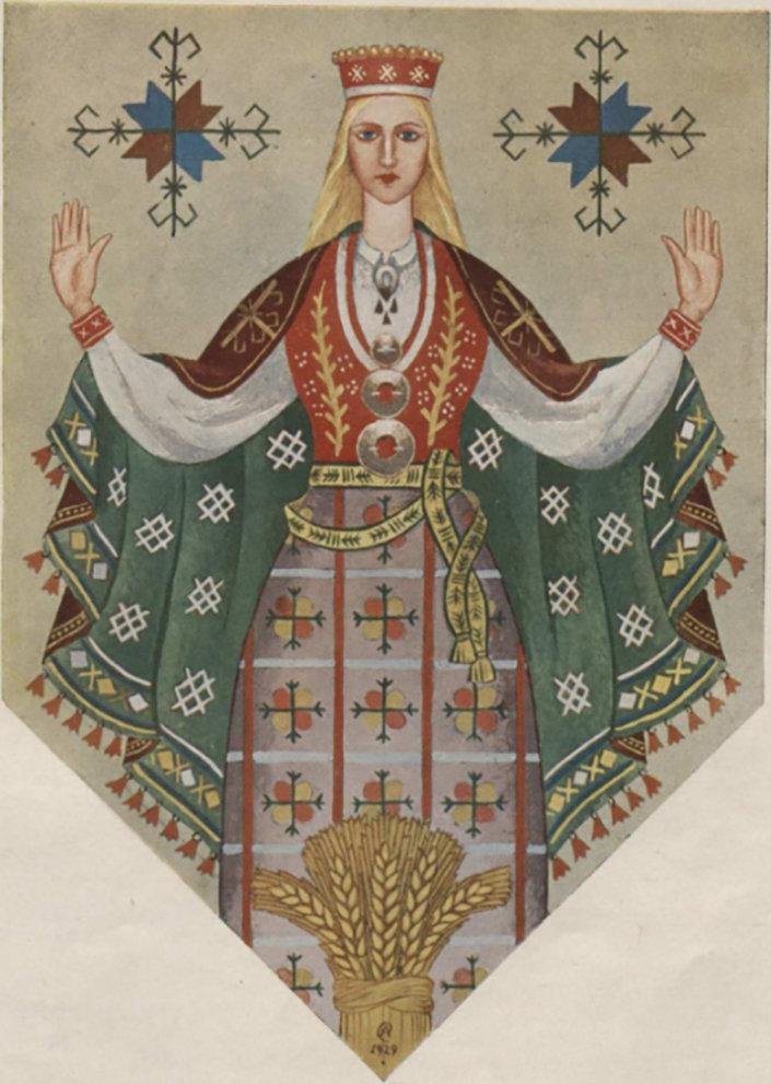 Лайма в  в Рижском замке, художник Ансис Цирулис