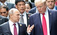 KF prezidents Vladimirs Putins un ASV prezidents Donalds Tramps APEC samitā